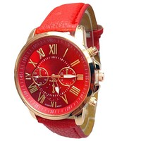 Watches women fashion watch 2016 luxury brand Ladies Wrist  Watches Roman PU Leather Clock For Women Men masculino reloj mujer