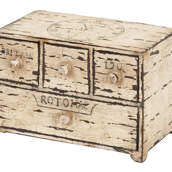 """Wood Box with Drawers 11"""" x 8"""""""