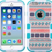 Iphone 6 case, Slim Fit IPhone 6 (4.7 inch) Hybrid Triple Layer Tuff Verge Merge Shield Heavy Duty Hard Cover Fitted Skin Case Protector + Clear LCD Screen Protector Shield Guard + Touch Screen Stylus Pen (Mexican Tribal)