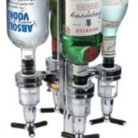 Global Decor 170 Rotating 4 Bottle 1-1/2-Ounce Drink Dispenser:Amazon:Kitchen & Dining