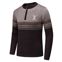 Boys & Men Louis Vuitton LV Casual Winter Keep Warm Long Sleeve Top Sweater