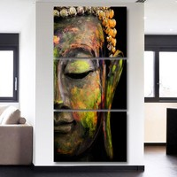 Buddha Canvas Wall Art - 3PCS HD Painting Wall Decor