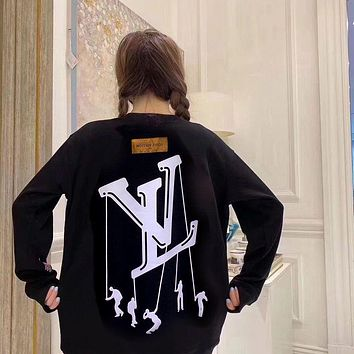 Louis Vuitton LV new couple round neck sweater men's and women's autumn and winter jacket trend large size top