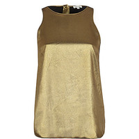 River Island Womens Dark gold button down back shell top