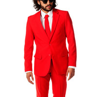 The Bachelor Red Rider Dress Suit