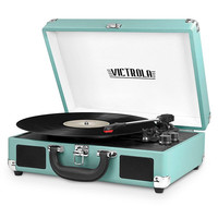 Victrola VSC-550BT 3-Speed Vintage Bluetooth Suitcase Turntable with Built-In Stereo Speakers - JCPenney