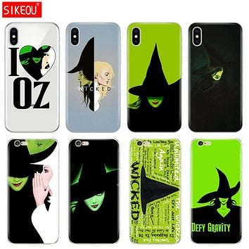 Silicone Cover Phone Case For Iphone 6 X 8 7 6s 5 5s SE Plus 10 XR XS Max Case Broadway Musical Wicked Lyrics