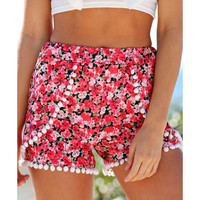 2016 Retro Sexy Women Summer Casual Loose Loose Shorts Floral Boho Beach Hot Short Pants Trousers
