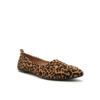 Women's Animal Print Loafer with Pointed Toe