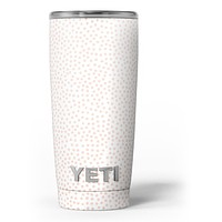 The All Over Micro Pink Dotted Pattern - Skin Decal Vinyl Wrap Kit compatible with the Yeti Rambler Cooler Tumbler Cups
