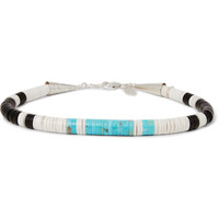 Peyote Bird - Sterling Silver, Turquoise, Jet and Shell Bracelet | MR PORTER