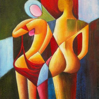 Drawn Together Oil Painting