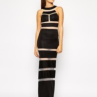 Club L Maxi Dress with Sheer Inserts