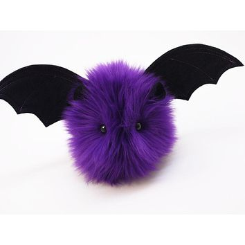 Bella the Dark Purple Bat Stuffed Animal Plush Toy