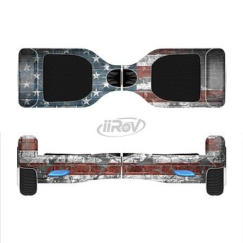 The Vintage USA Flag Full-Body Skin Set for the Smart Drifting SuperCharged iiRov HoverBoard
