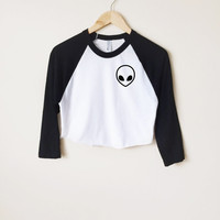 Alien Head Raglan T