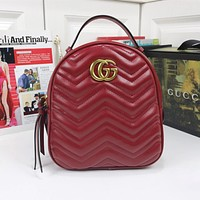 Gucci Classic Texture Backpack Hot Selling Fashion Ladies Shoulder Bags Street Style Backpack Bags