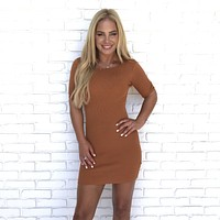 Look At Me Wow Rust Bodycon Dress