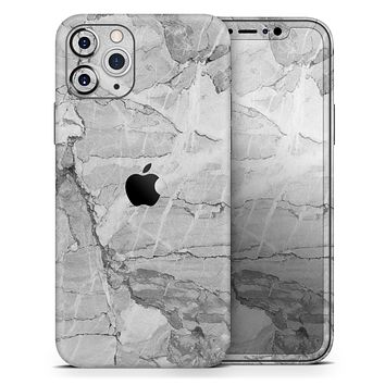 Gray Slate Marble - Skin-Kit compatible with the Apple iPhone 12, 12 Pro Max, 12 Mini, 11 Pro or 11 Pro Max (All iPhones Available)