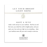 let your bright light shine sun and moon taupe silk necklace, sterling silver - Dogeared