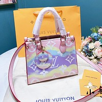 Louis Vuitton LV 2020 summer gradient tie-dye print ladies handbag shoulder bag
