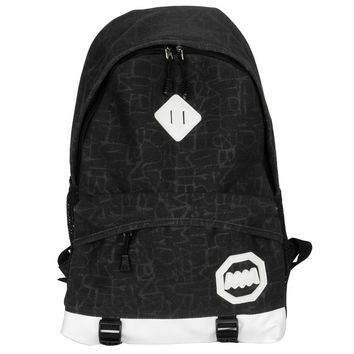 Retro Chic Multipurpose Canvas Outdoor Student School Bag / Backpack / Dayback - Black