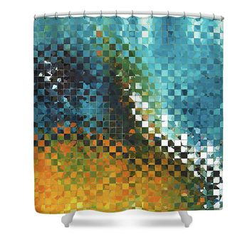 Abstract Art - Pieces 9 - Sharon Cummings Shower Curtain