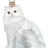 Joy to the World Collectibles Cat Ornament - White