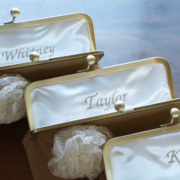 Country Shabby Chic Rustic Wedding Clutch  by loliscreations