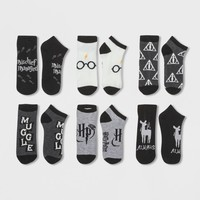 Women's 6pk Low Cut Harry Potter Casual Socks - 4-10