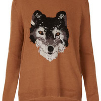 Knitted Wolf Jumper