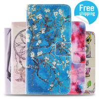 2016 New Arrival Fashion Covers Cat And Sexy Girl Woman PU Leather Case For iPhone 6 Plus Cases Stand Wallet  coque * IDOOLS