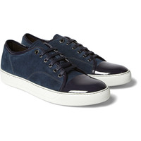LanvinSuede and Patent-Leather Sneakers|MR PORTER