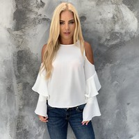 Just What You Needed Cold Shoulder Blouse