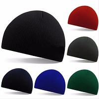 Europe and The United States Fall and Winter Men and Women's Thin Stripes Short Paragraph Ski Cap Knitted Wool Beanies Hat RX057