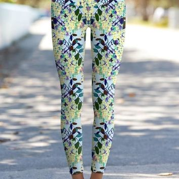 Gentle You Lucy Blue Boho Printed Performance