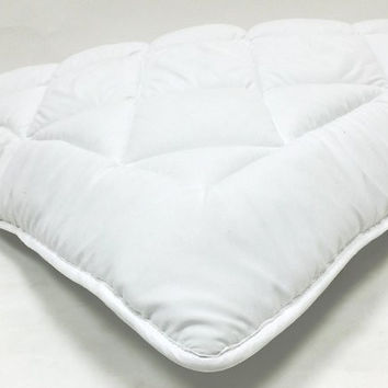 """Fully Reversible (Double Life)-1"""" Down Alternative Mattress Topper / Pad- w/ Stay Tight Anchor Straps"""