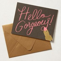 Hello Gorgeous Card by Rifle Paper Co. Black One