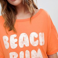 ASOS DESIGN Beach Bum Oversized Jersey Tee at asos.com