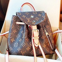 Louis Vuitton LV Fashion new monogram print leather shoulder bag handbag crossbody bag book bag backpack bag