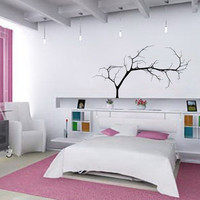 """Wall Decal Bare Tree 4 Small 44""""Wx22""""H Vinyl Wall Decal 22224"""