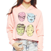 Marvel Heroes Cropped Sweatshirt | Wet Seal