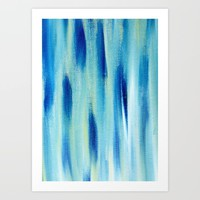 Beach Blues Absract Art Print by Allyson Johnson | Society6
