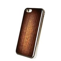 REAL WOODEN Grain Pattern Case for iPhone 6s / 6 (Walnut / Brown Sunburst)