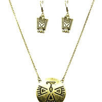 Aztec Thunderbird Necklace and Earring set