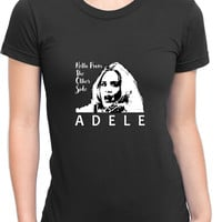 Adele Hello From The Other Side Illustrations Womens T Shirt