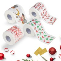Festive Paper Roll Tissue Christmas Decorations Xmas Santa Room Toilet Paper Decor Hot Many Styles Christmas Printed Roll Paper