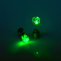 New LED Flashing Light Up Earring Bling Dance Party Disco Ear Studs  TIML66