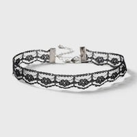 Thin Pointed Lace Choker Necklace   Topshop