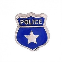 Floating Police Officers Badge Charm Compatible With Origami Owl Lockets